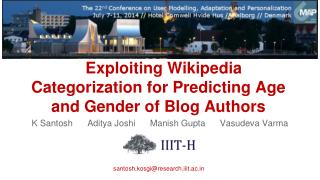 Exploiting Wikipedia Categorization for Predicting Age and Gender of Blog Authors