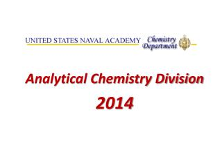 Analytical Chemistry Division 2014