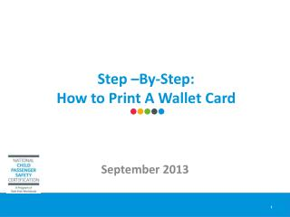 Step �By-Step:  How to Print A Wallet Card