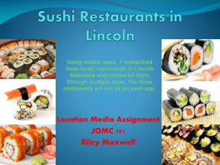 Sushi Restaurants in Lincoln