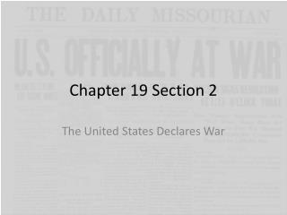 Chapter 19 Section 2