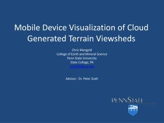 Mobile Device Visualization of Cloud Generated Terrain Viewsheds