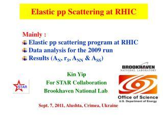 Elastic pp Scattering at RHIC