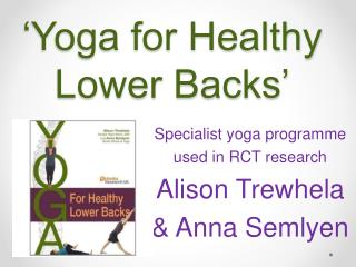 'Yoga for Healthy Lower Backs'