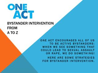 Bystander intervention from A  to Z