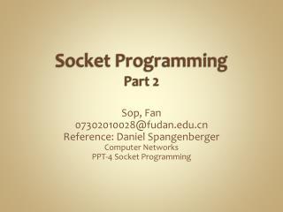 Socket Programming Part 2