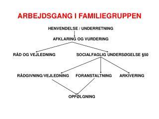 ARBEJDSGANG I FAMILIEGRUPPEN