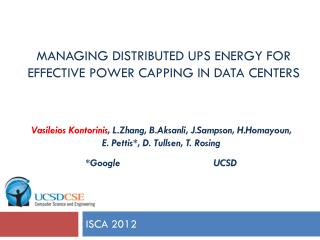 Managing distributed UPS energy for effective power capping in data centers