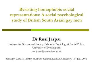Dr Rusi Jaspal