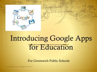 Introducing Google Apps for Education