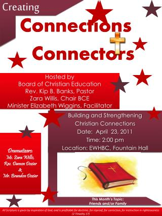 Building and Strengthening   Christian Connections Date:  March 26, 2011 Time: 2:00 pm