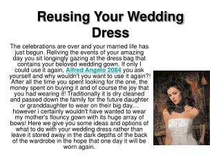 Reusing Your Wedding Dress