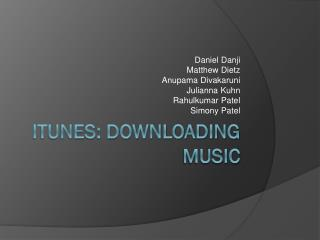 iTunes: Downloading Music