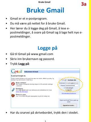 Bruke  Gmail