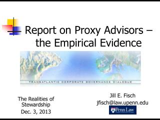 Report on Proxy Advisors – the Empirical Evidence