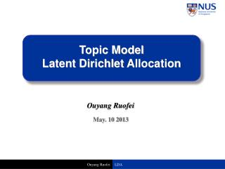 Topic Model  Latent  Dirichlet  Allocation