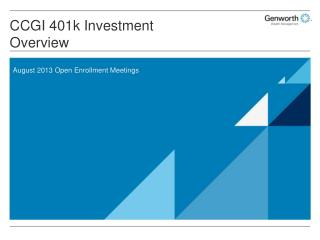 CCGI 401k Investment Overview