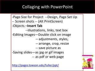 Collaging  with PowerPoint