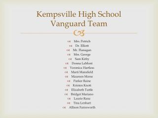 Kempsville  High School Vanguard Team