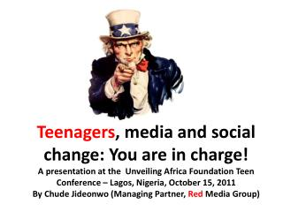 Anyone  can make change happen,  age  is not really a defining factor–  that's a fact .