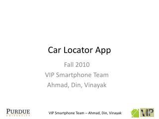 Car Locator App