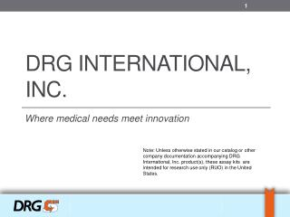 DRG International, Inc.