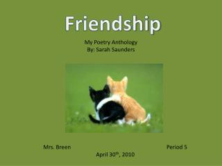 My Poetry Anthology By: Sarah Saunders