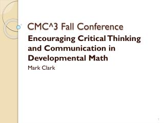 CMC^3 Fall  Conference