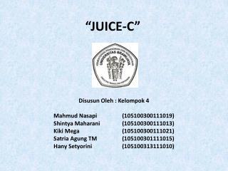 """JUICE-C"""