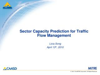 Sector Capacity Prediction for Traffic Flow Management