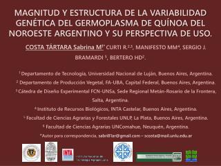 Germoplasma nativo  de la  región  del  Noroeste  en  el  contexto  del  resto  de  Sudamérica …