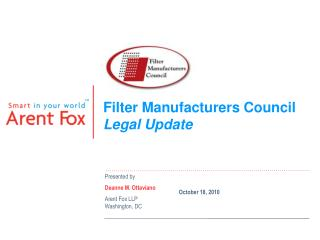 Filter Manufacturers Council Legal Update
