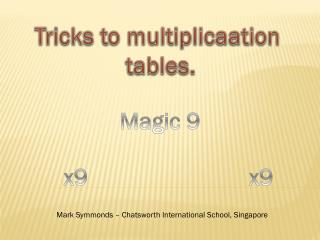 Tricks to  multiplicaation tables.