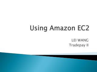Using Amazon EC2