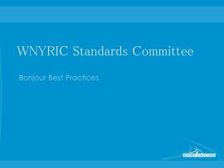 WNYRIC Standards Committee