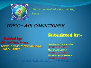 TOPIC:- AIR CONDITIONER