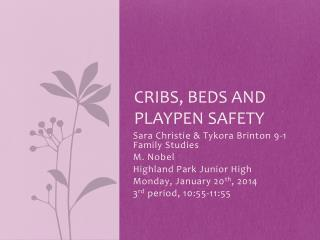 Cribs, beds and playpen safety
