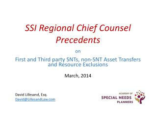 on First and Third party SNTs,  non-SNT  Asset Transfers and Resource Exclusions