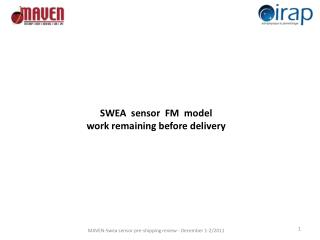 SWEA   sensor   FM  model  work remaining before delivery