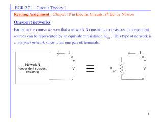 EGR 271  –  Circuit Theory I