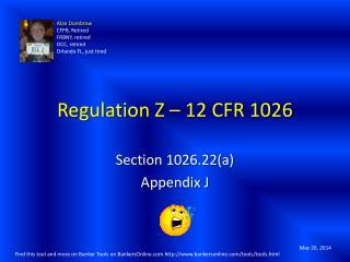 Regulation Z – 12 CFR 1026