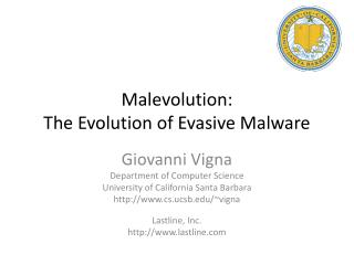 Malevolution :  The Evolution of Evasive Malware
