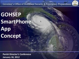 GOHSEP SmartPhone App  Concept