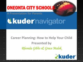 Career Planning: How to Help Your  Child Presented by  Rhonda Gibbs & Grace Malek