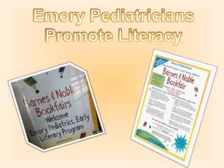Emory Pediatricians  Promote Literacy
