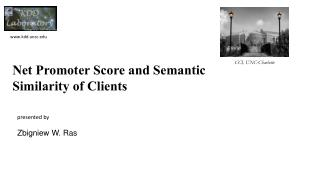 Net Promoter Score and Semantic  S imilarity of Clients