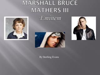 Marshall Bruce Mathers III Eminem