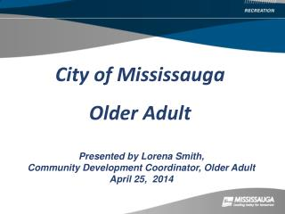 City of Mississauga Older Adult