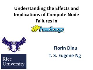 Understanding the Effects and Implications of Compute Node Failures in