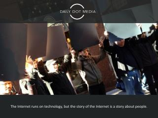 The  Internet runs on technology, but the story of the Internet is a story about people.
